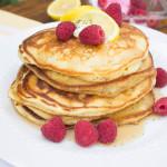 Fluffy Lemon Poppy Seed Pancakes