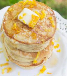 Ricotta Orange Whole Wheat Pancakes