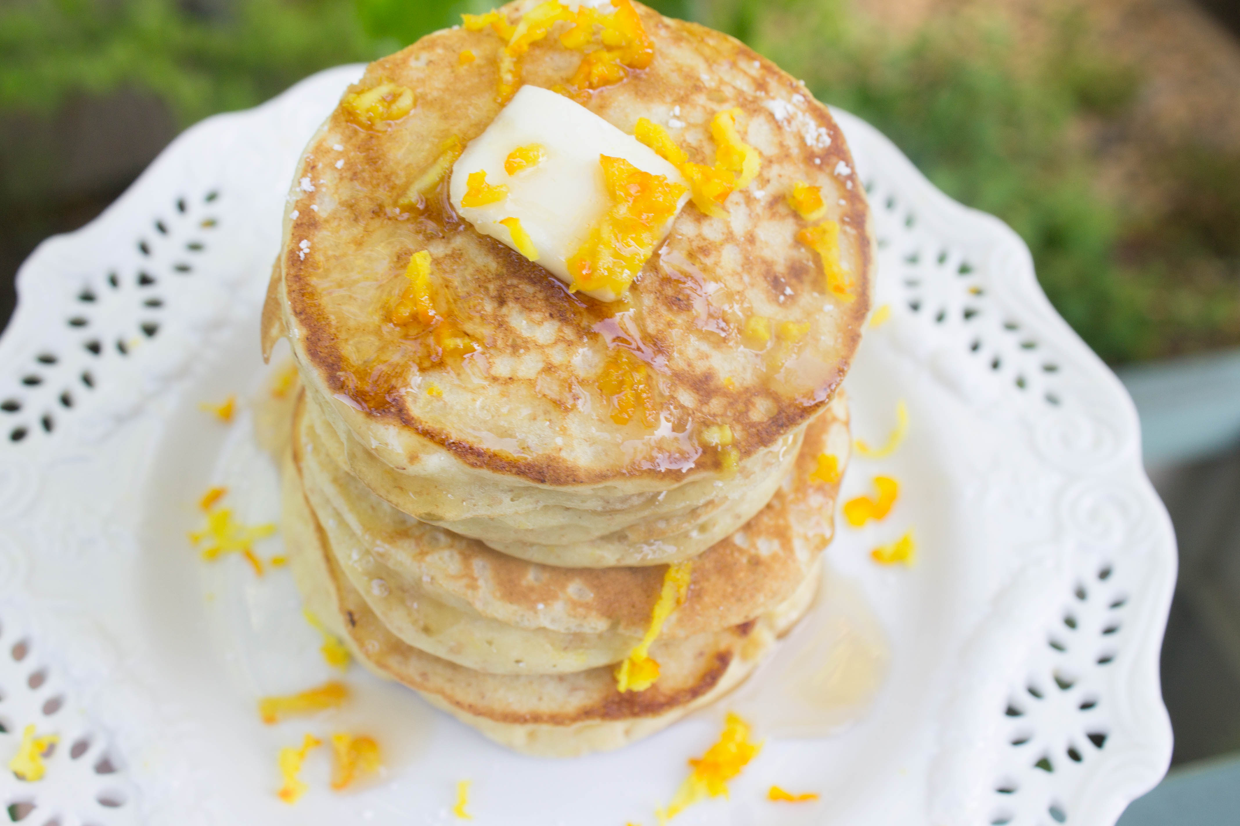 Ricotta Orange Whole Wheat Pancakes