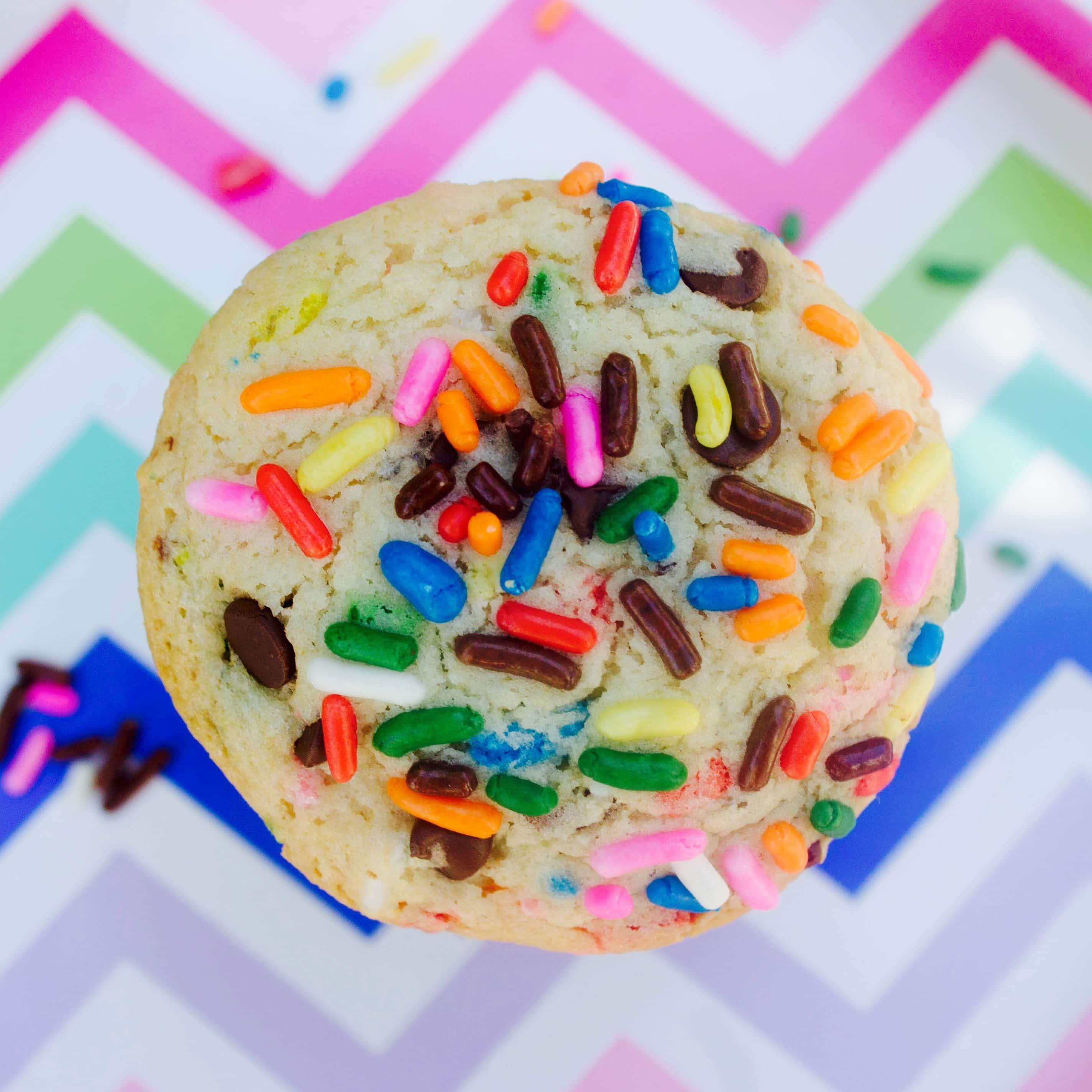 Cake Batter Sprinkle Cookies