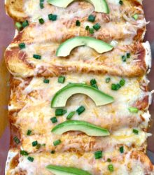 Cheesy Rotisserie Chicken Enchiladas
