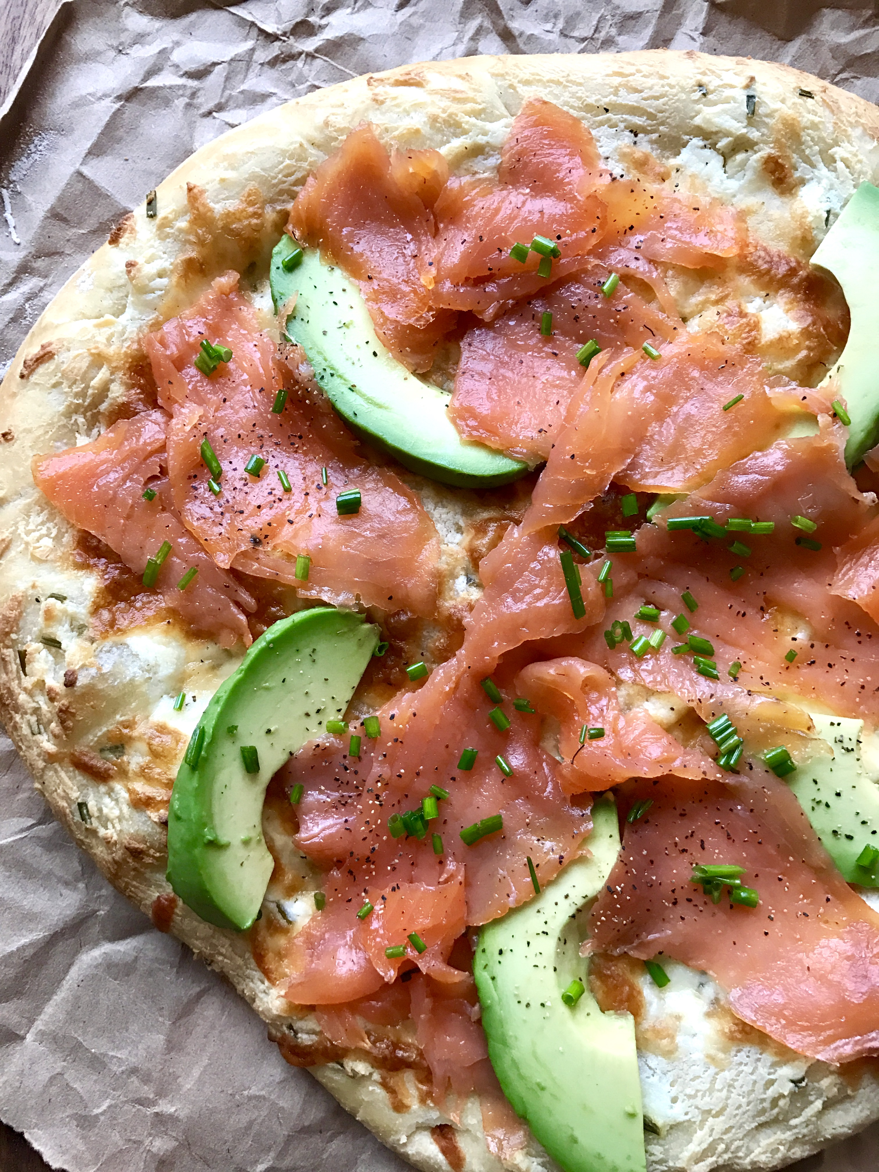 Smoked Salmon & Avocado Breakfast Pizza