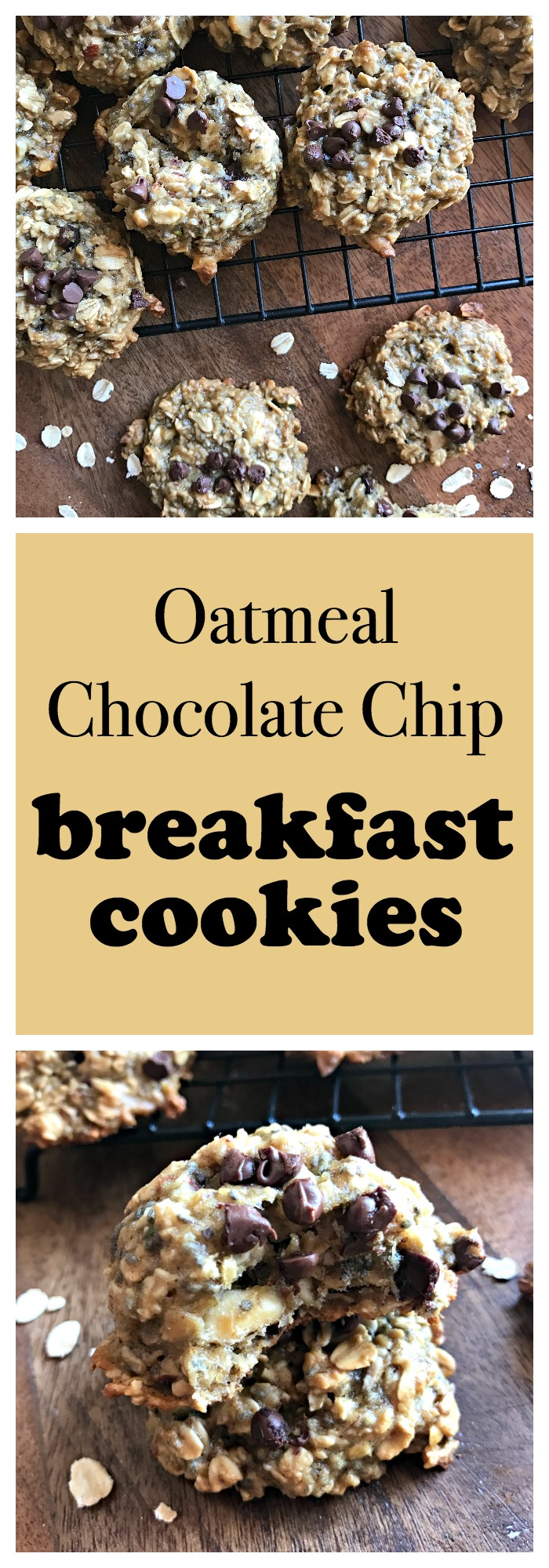 Oatmeal Chocolate Chip Breakfast Cookies 2