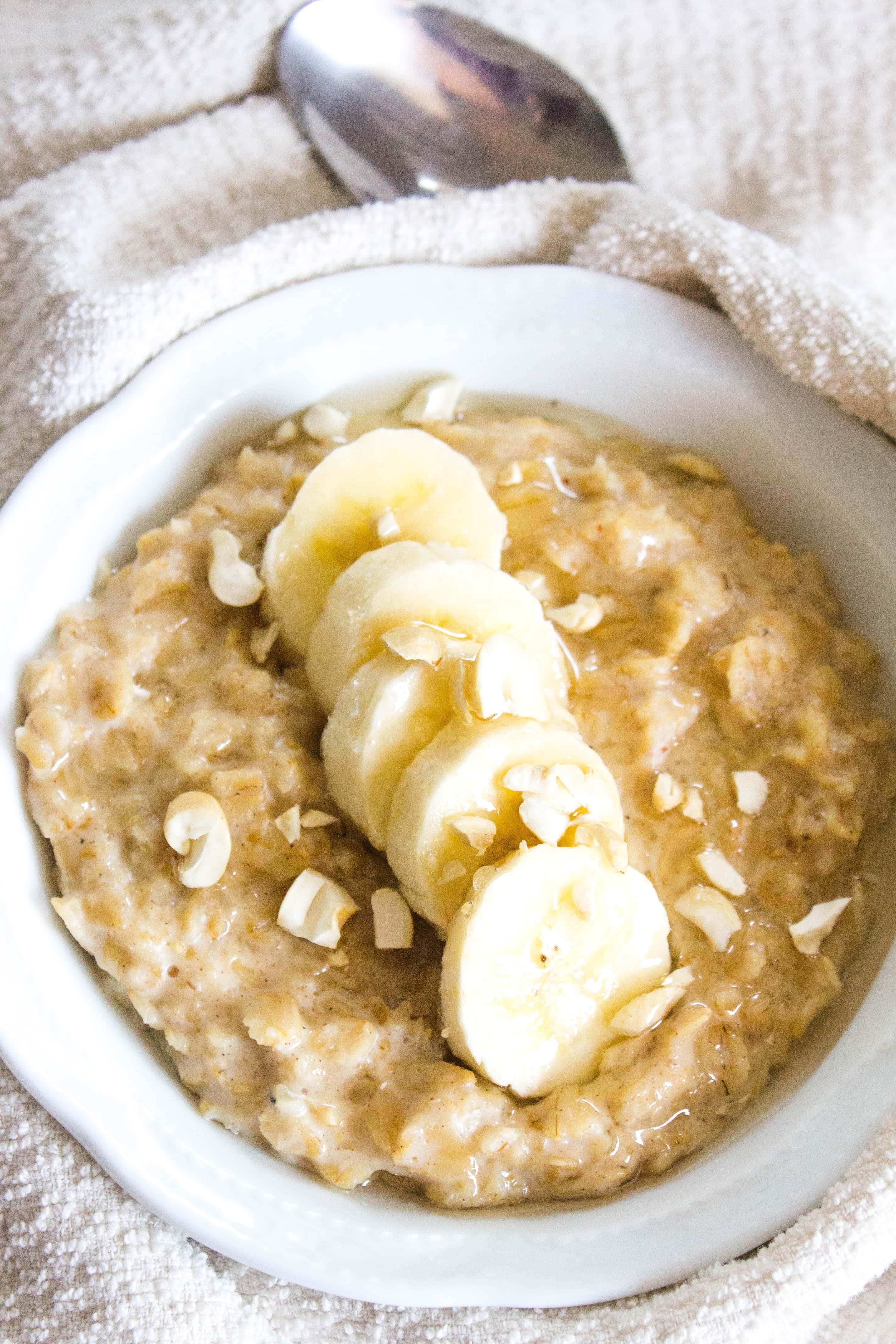 Peanut Butter Banana Bread Oatmeal