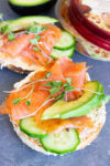 Caramelized Onion & Salmon Bagel