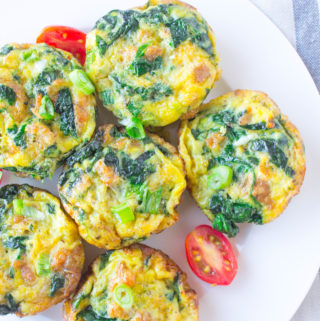 Italian Sausage & Spinach Egg Bites