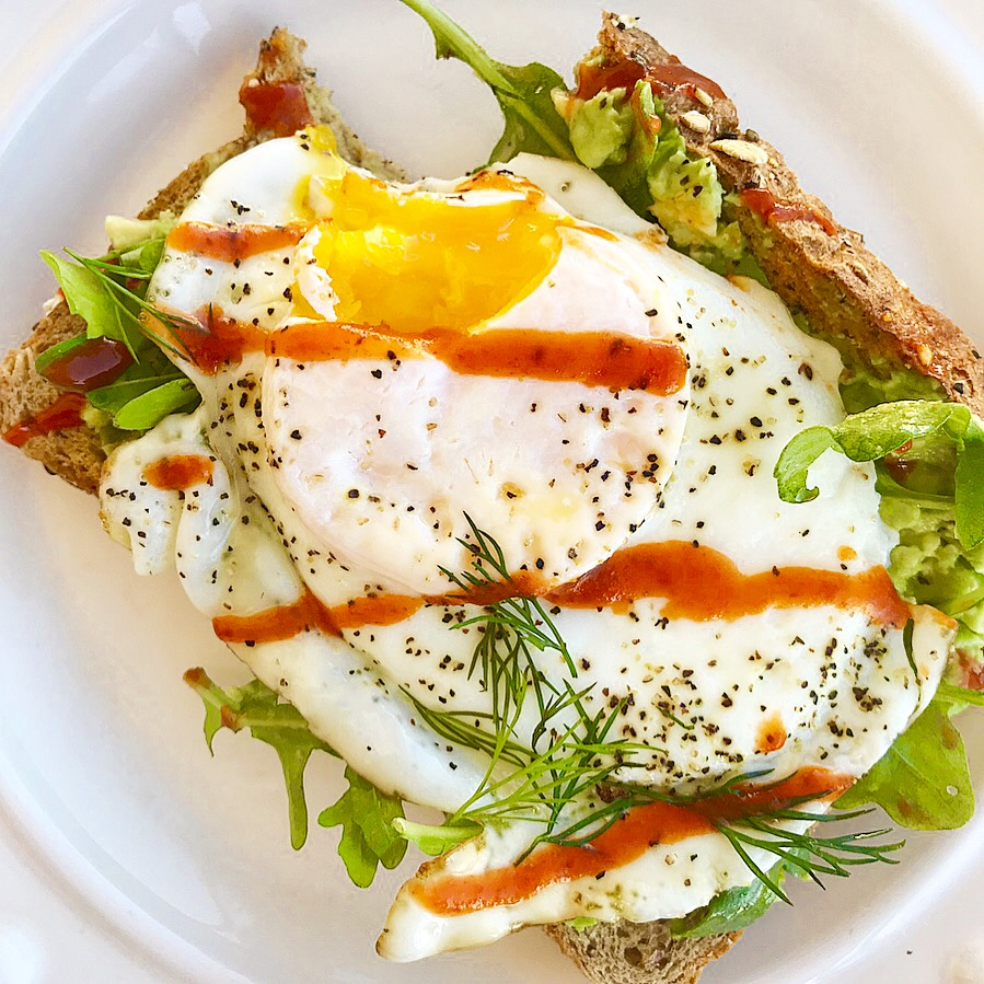 Spicy Fried Egg Avo Toast
