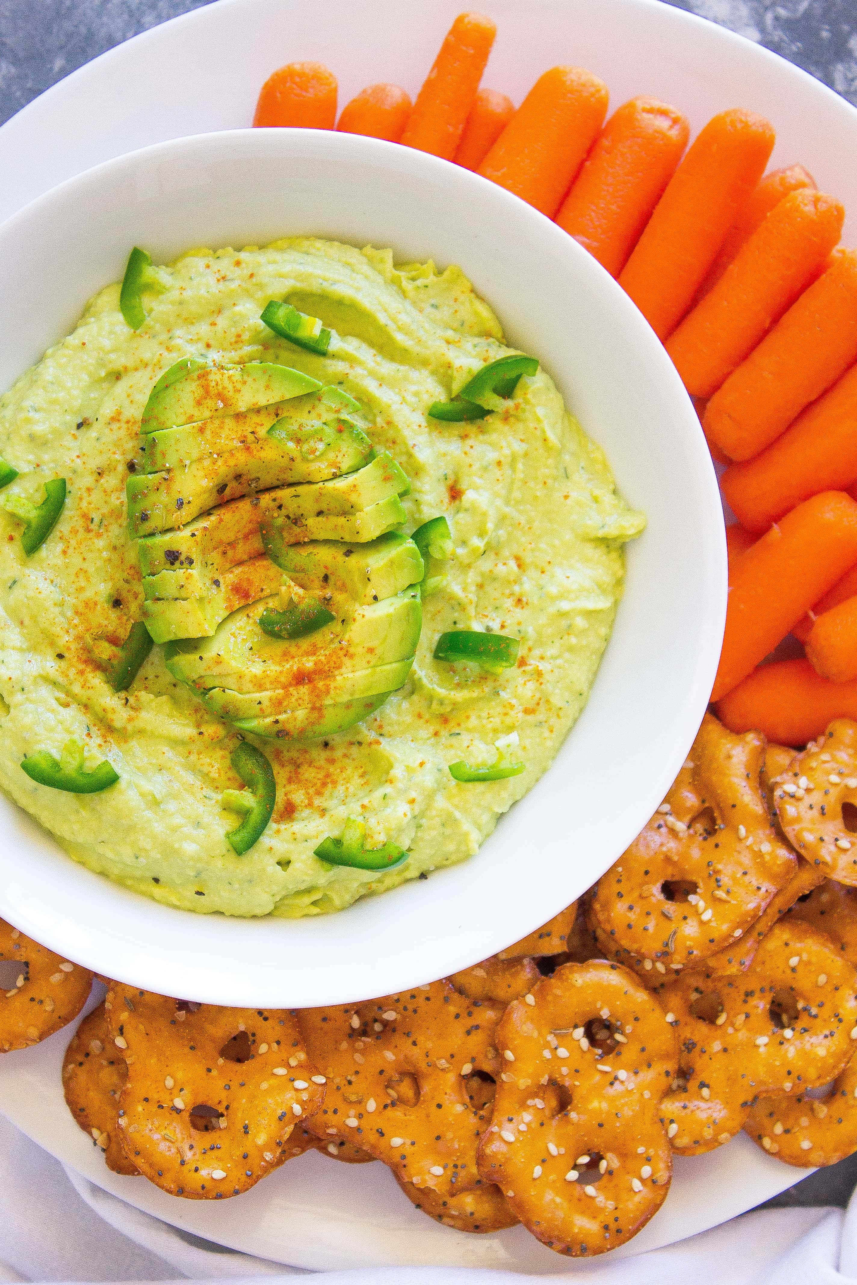 Spicy & Creamy Avocado Hummus