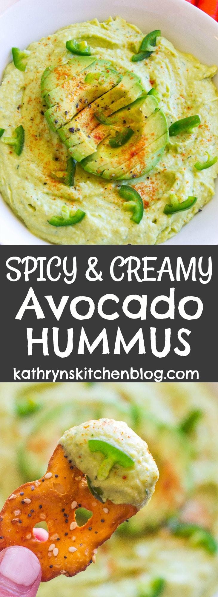 Creamy and Spicy Avocado Hummus