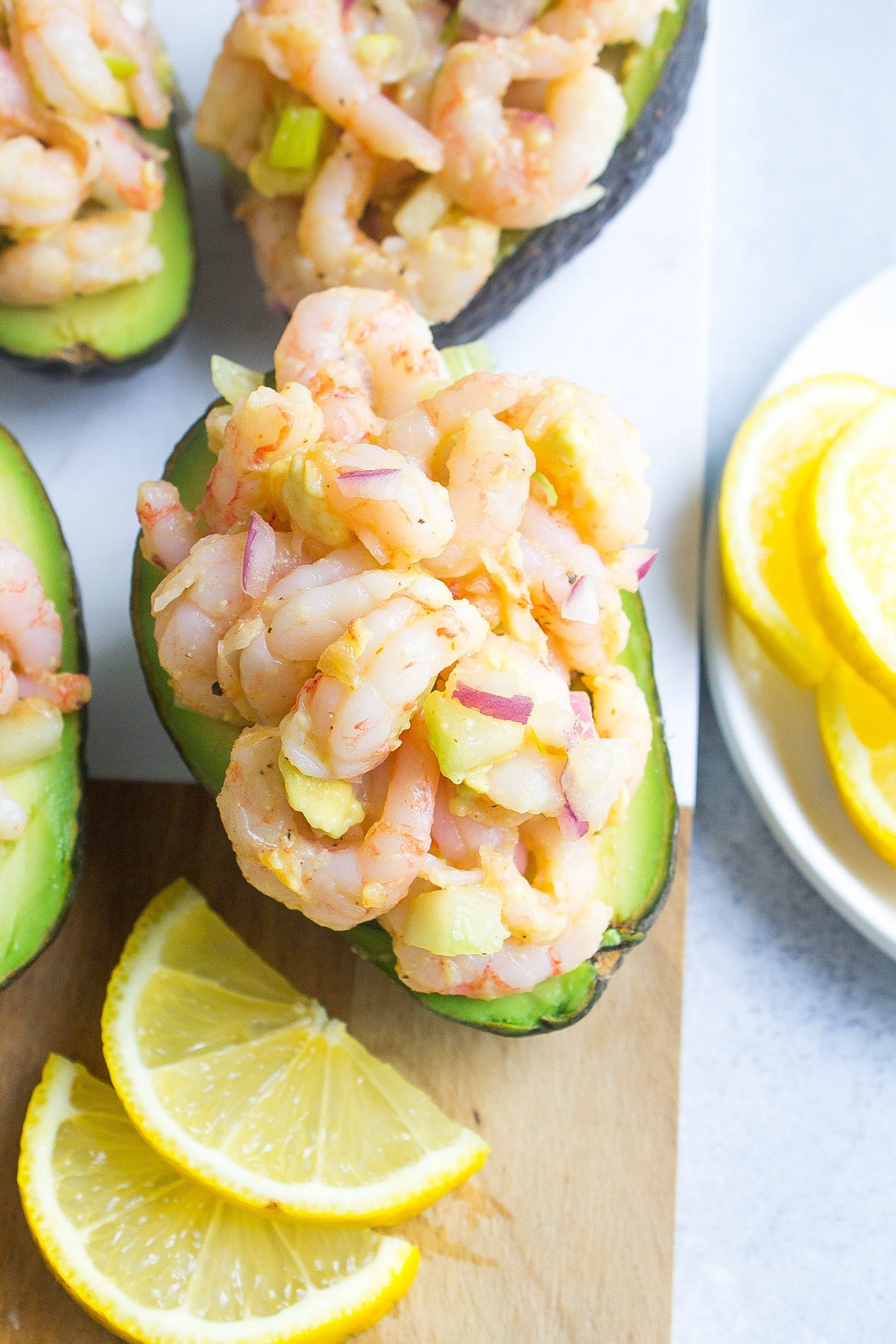 Stuffed Avocados with Shrimp