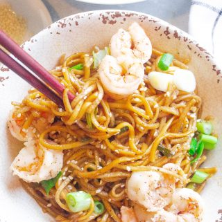 Shrimp & Sesame Soba Noodle Salad