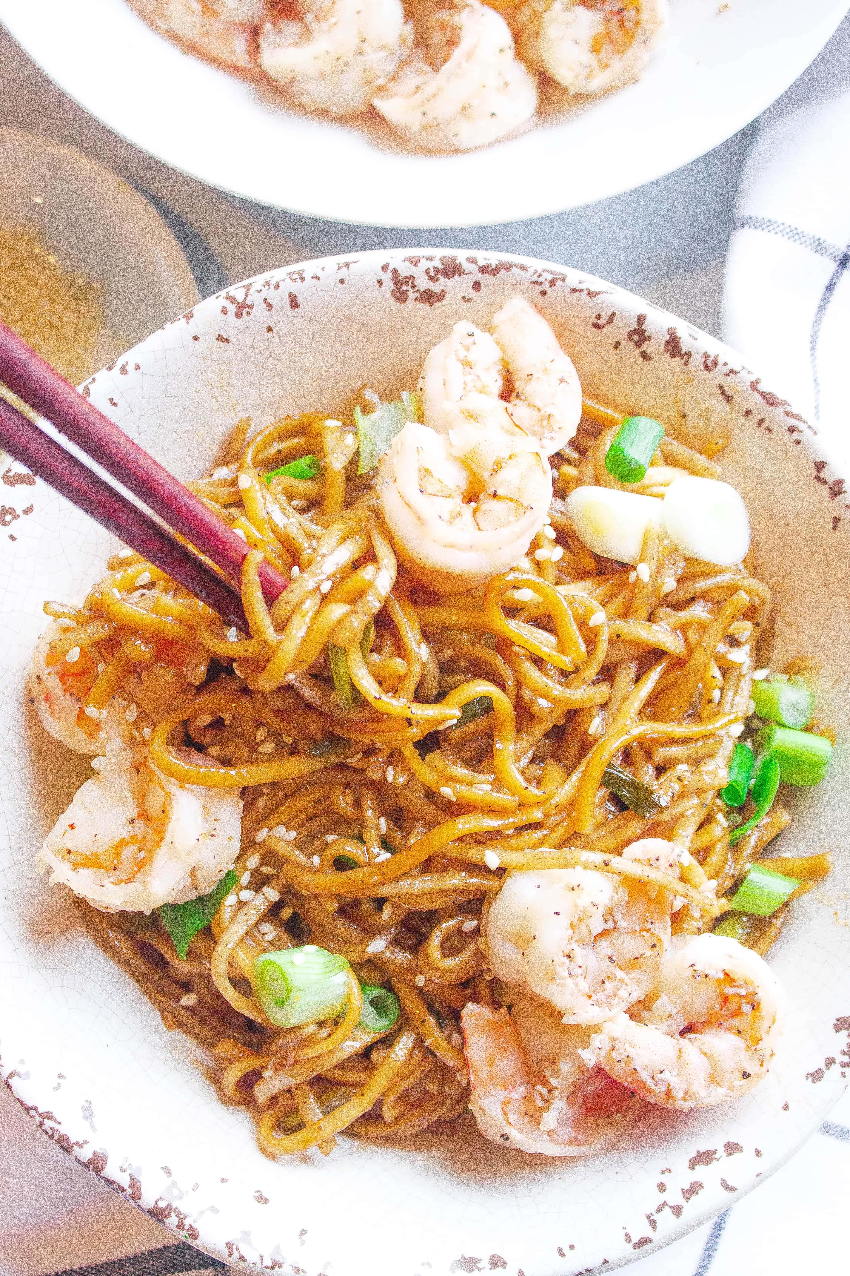 Shrimp & Sesame Soba Noodle Salad 1