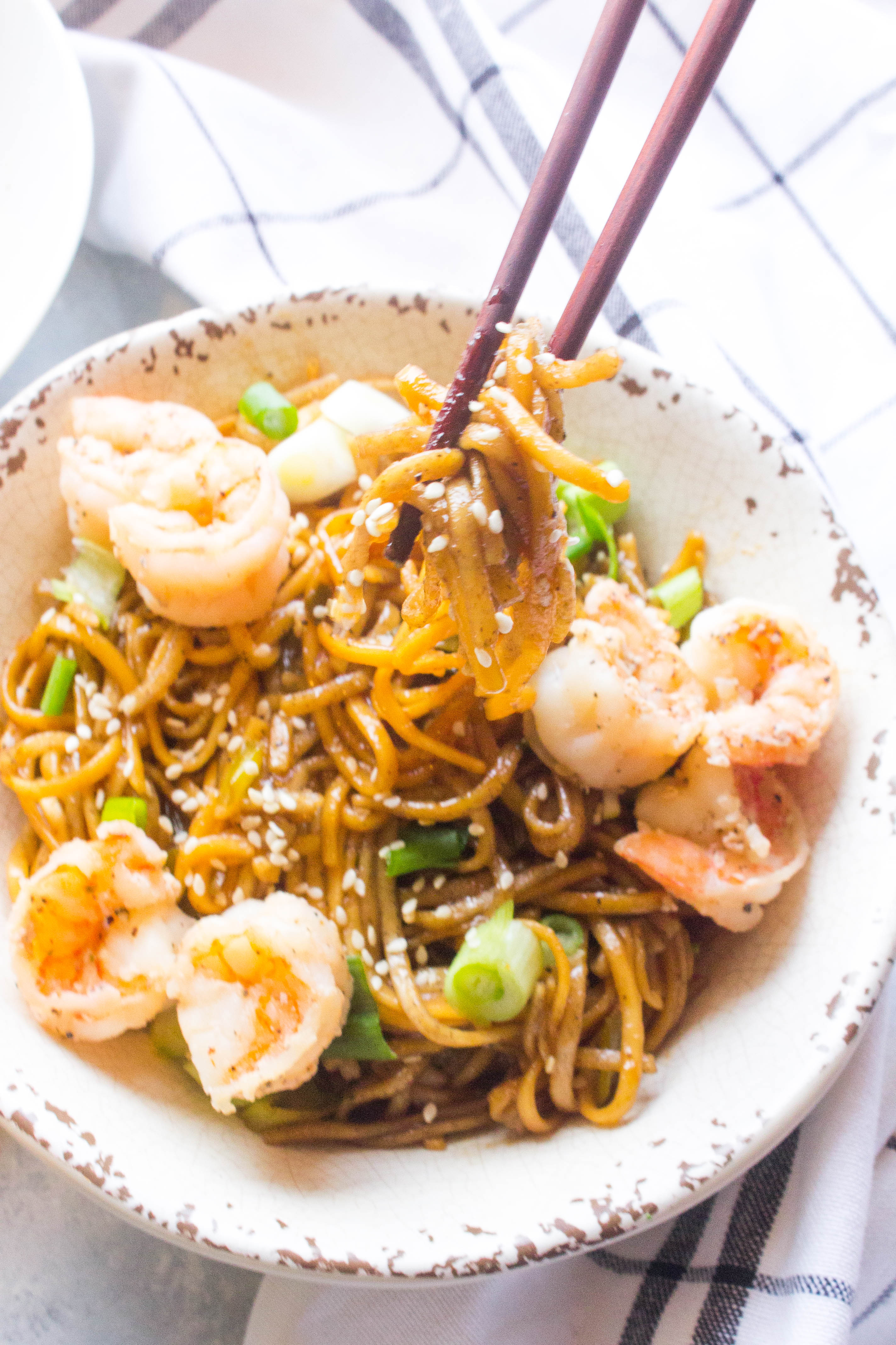 Shrimp Soba Noodle Salad