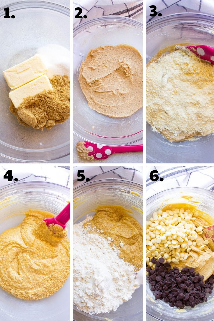 Step by step chocolate chip cookies