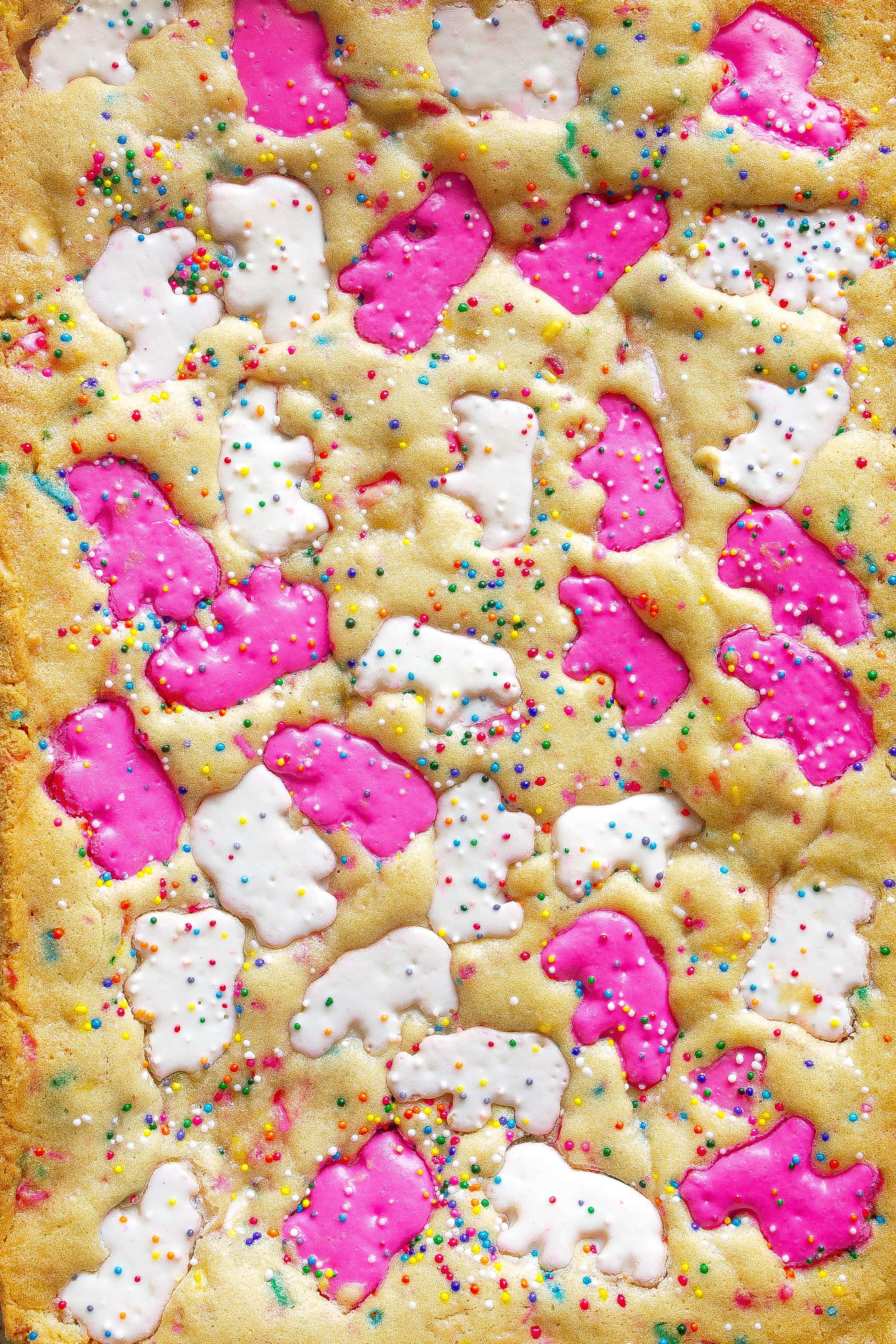 Circus Animal Cookie Blondies