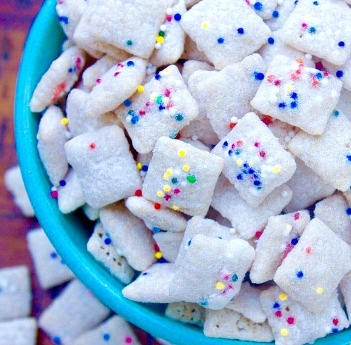 Sprinkled Cupcake Muddy Buddies