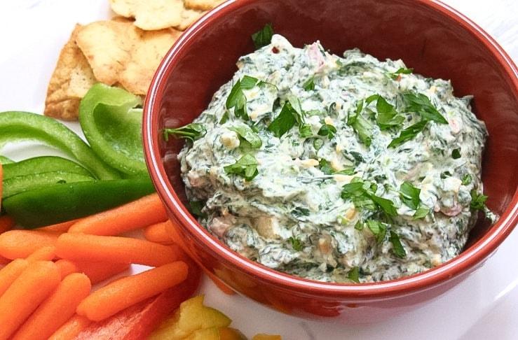 Lite Veggie and Herb Spinach Dip