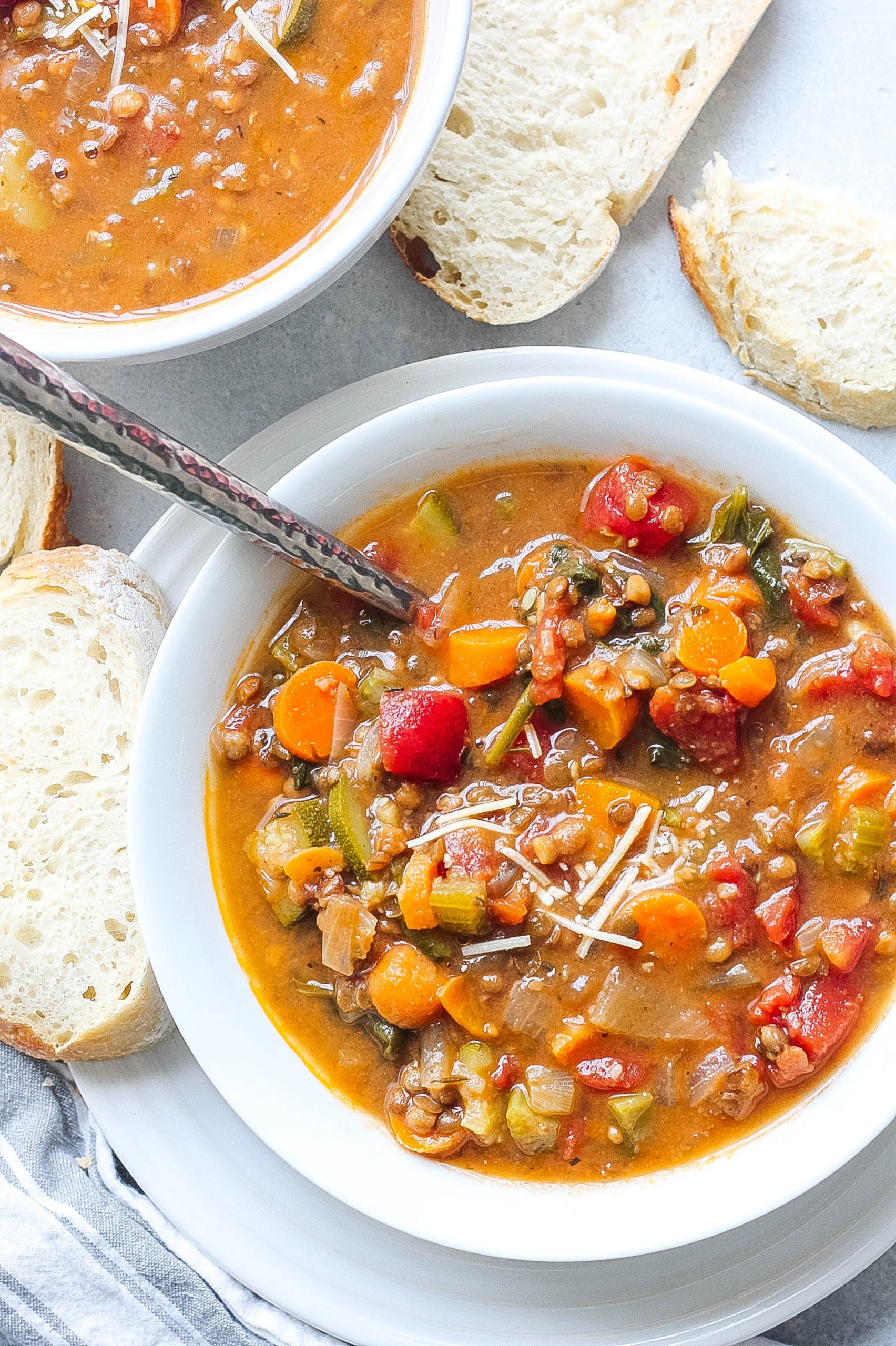 Hearty Minestrone Lentil Soup