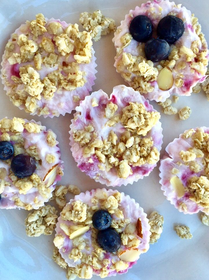 healthy granola yogurt cups