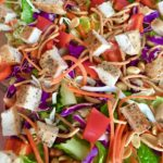 Chopped Chicken Salad with Asian Peanut Dressing