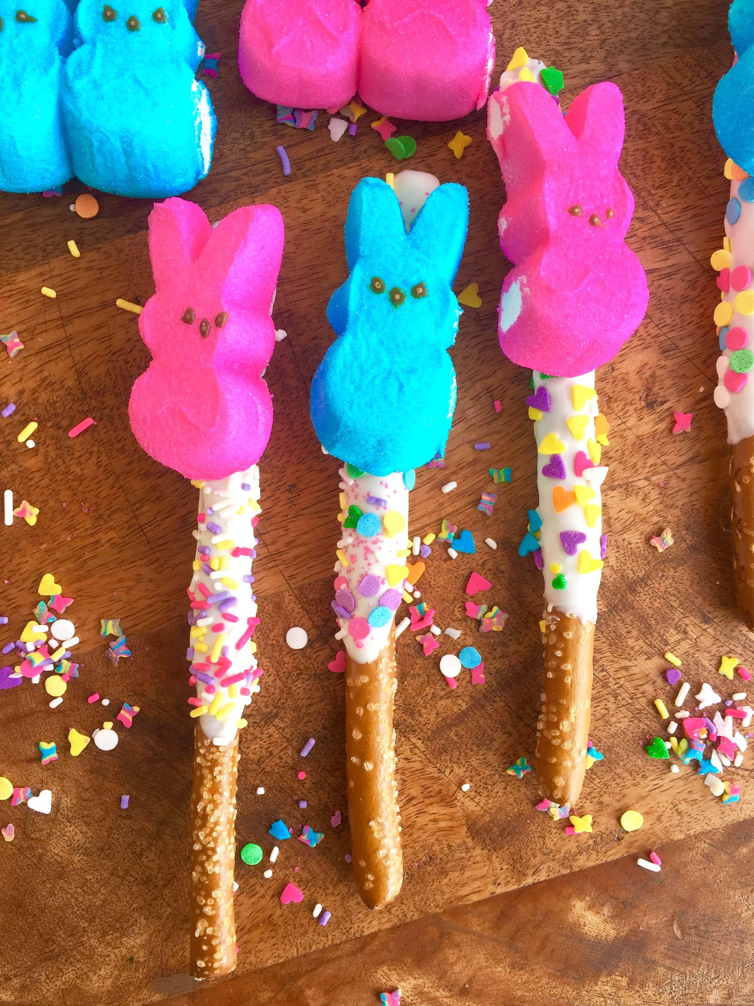 Easter Bunny Peep Pops