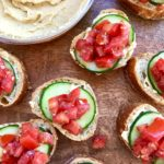 Hummus Bruschetta Bites