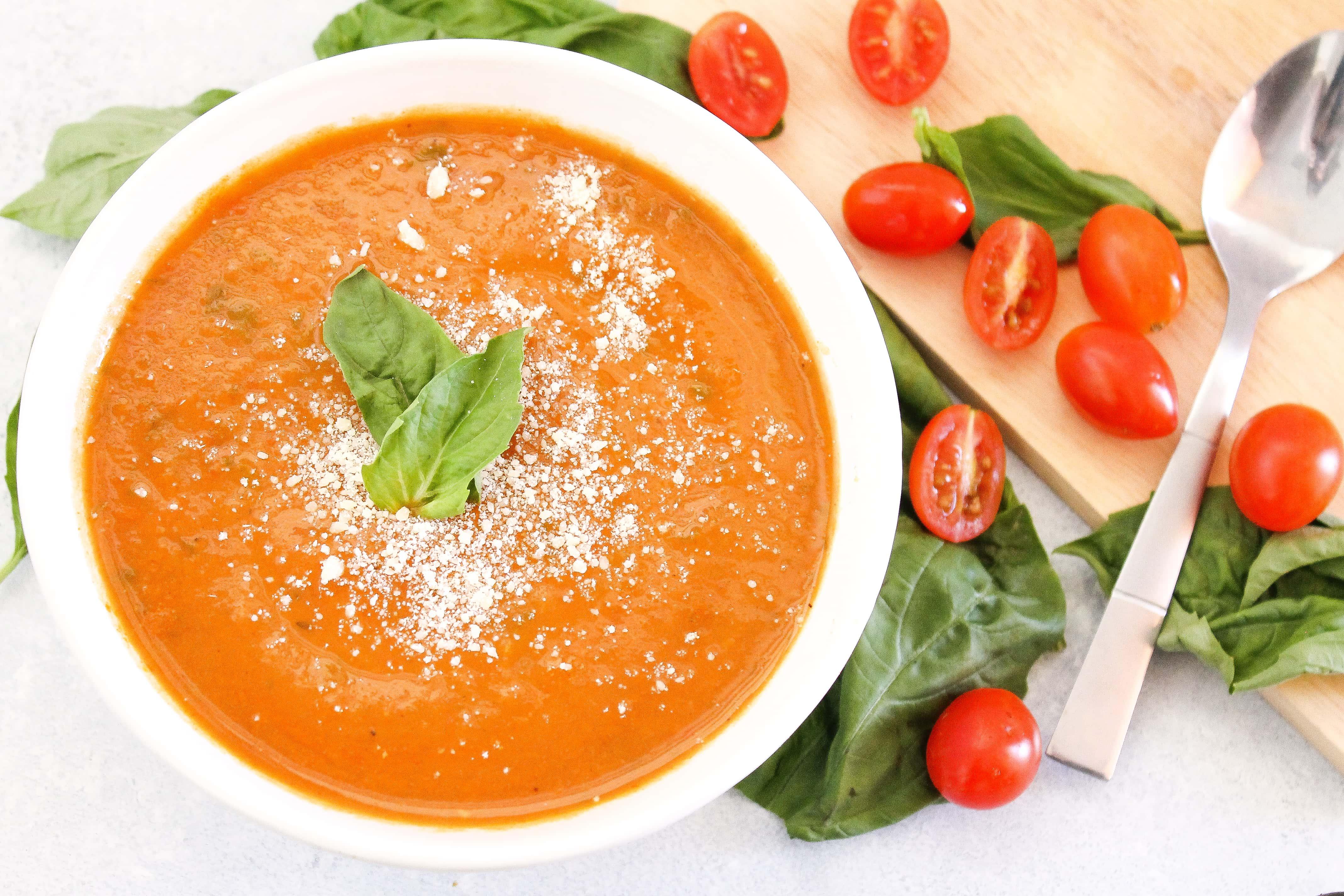 cozy tomato basil soup