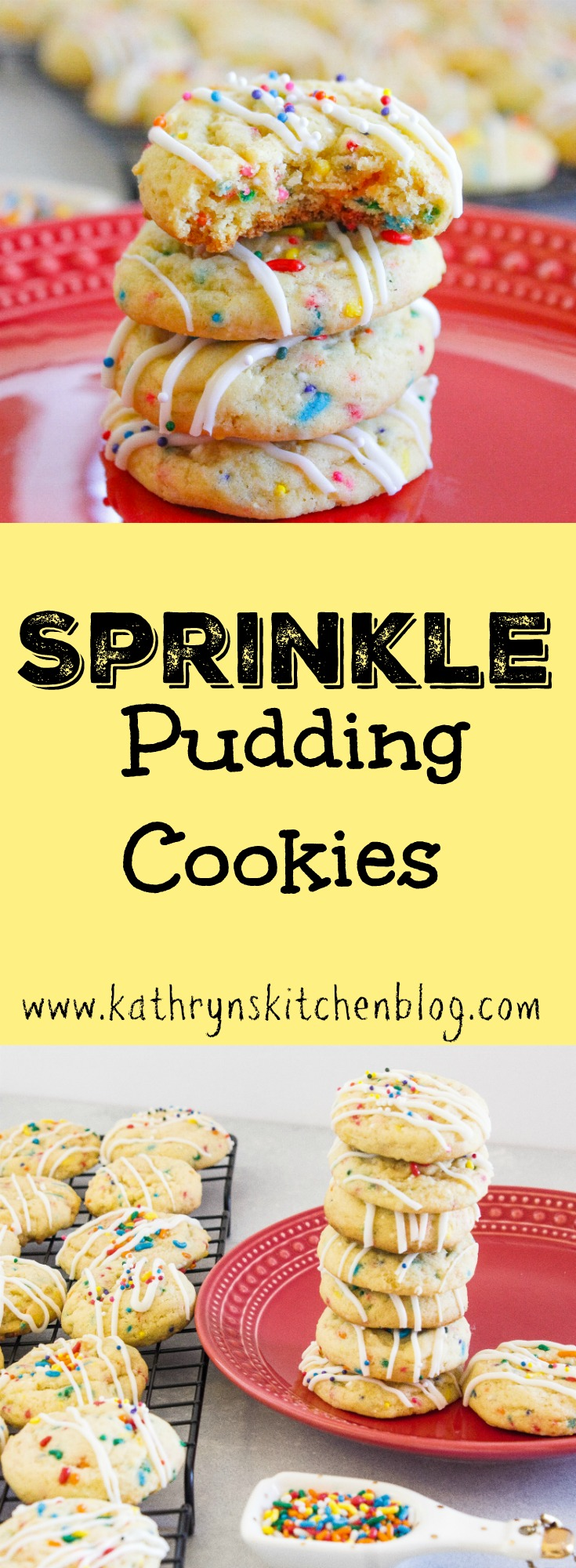 Sprinkle Pudding Cookies