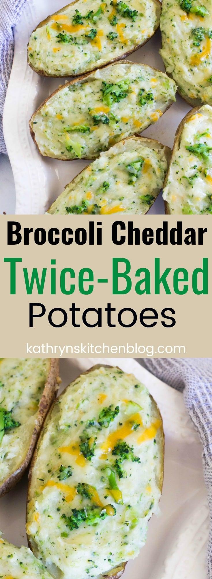 Broccoli Cheddar Twice-Baked Potatoes