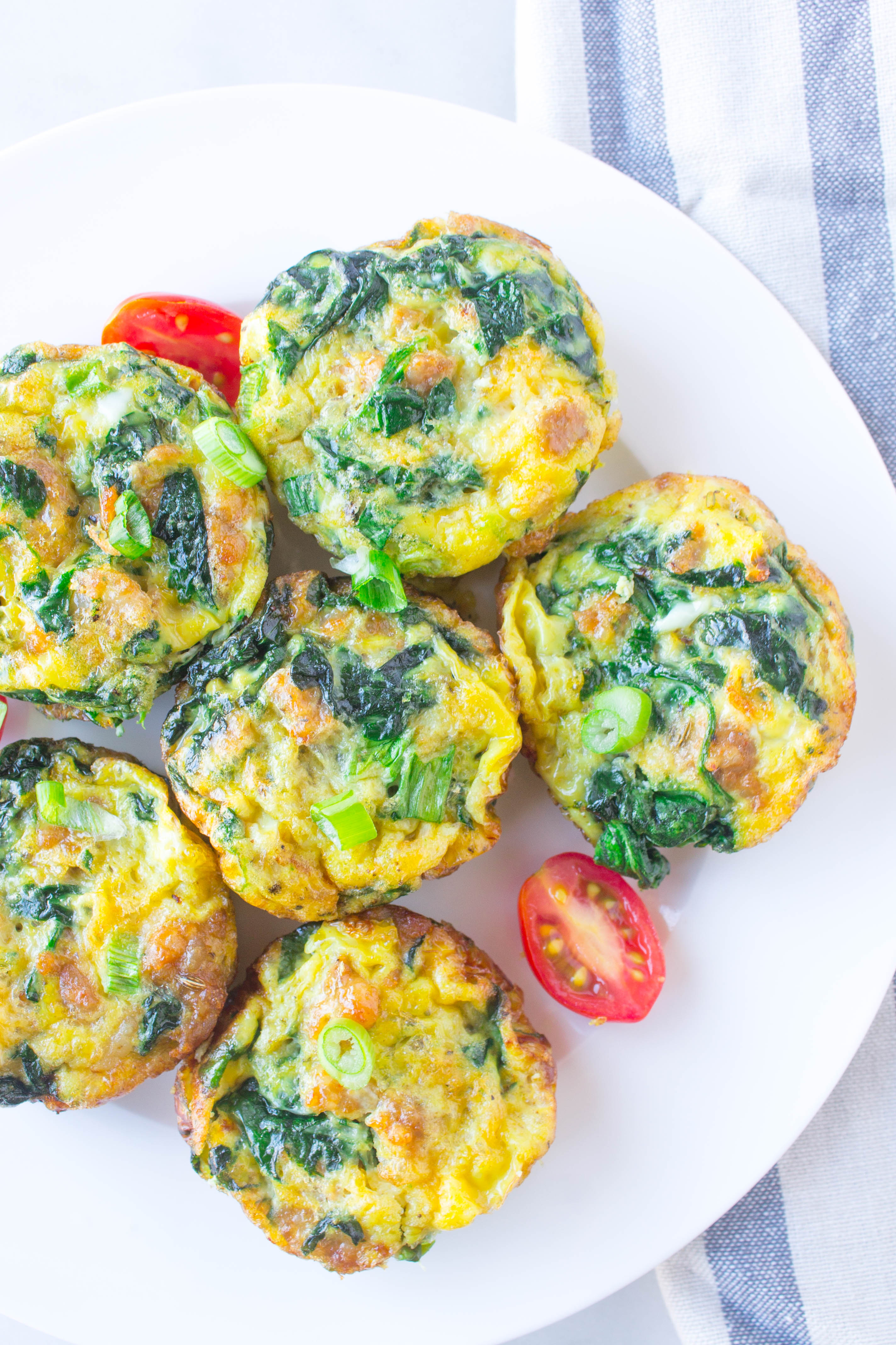 Italian Sausage and Spinach Egg Bites 1