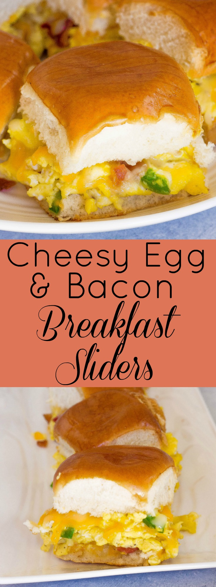 Cheesy Egg & Bacon Breakfast Sliders