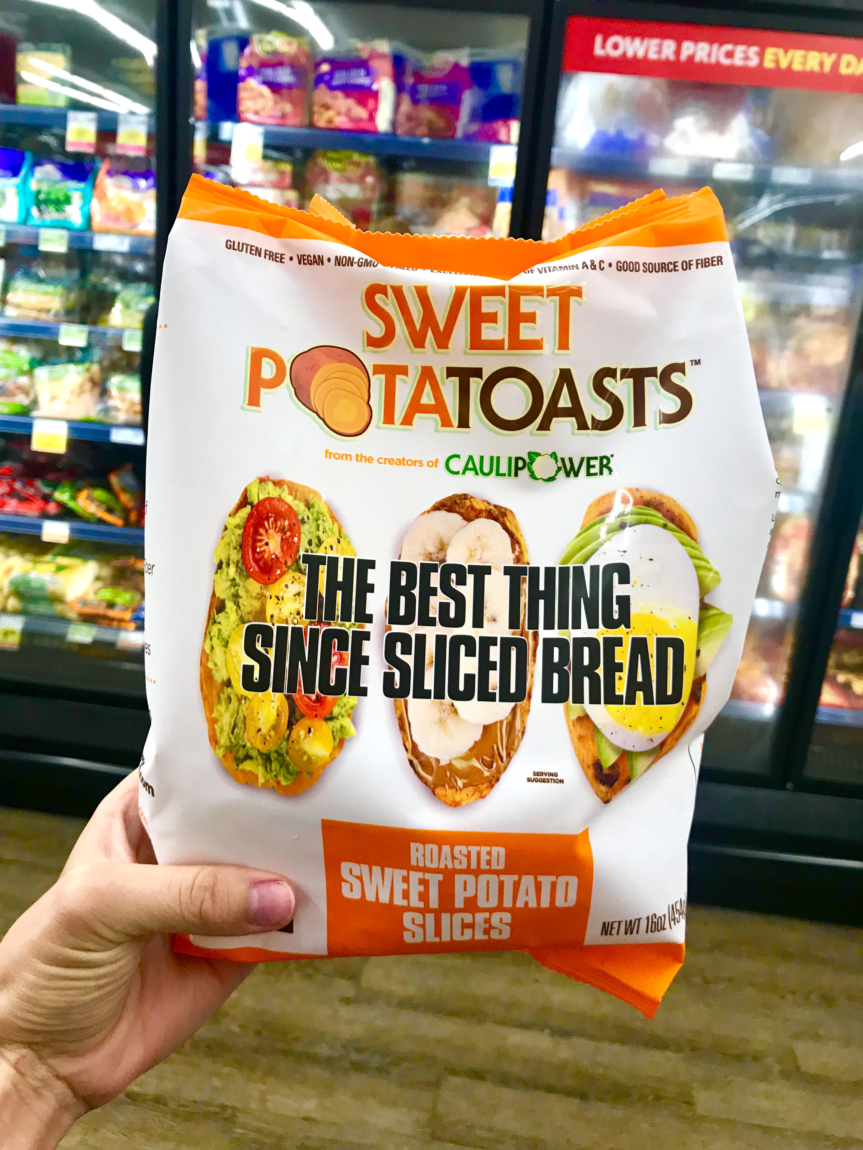 Sweet PotaTOASTS at grocery store