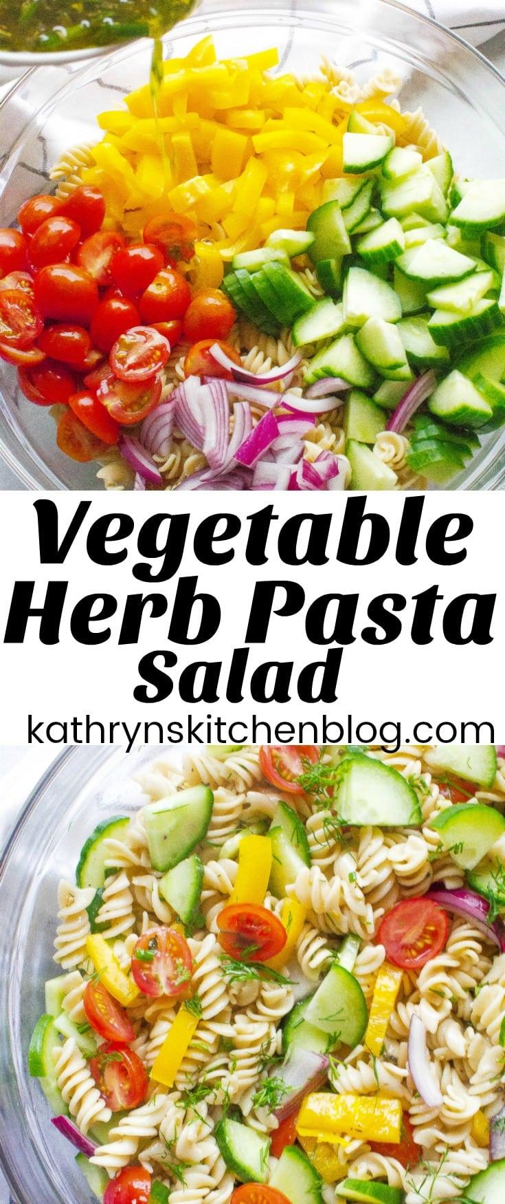 Veggie Herb Pasta Salad
