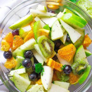 Fresh Fruit Salad (with Honey Poppy Seed Dressing)