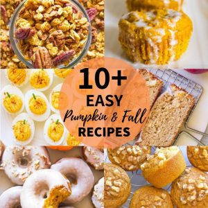 10+ Easy Pumpkin & Fall Recipes