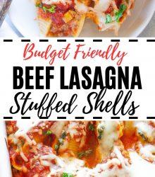 Beef Lasagna Stuffed Shells