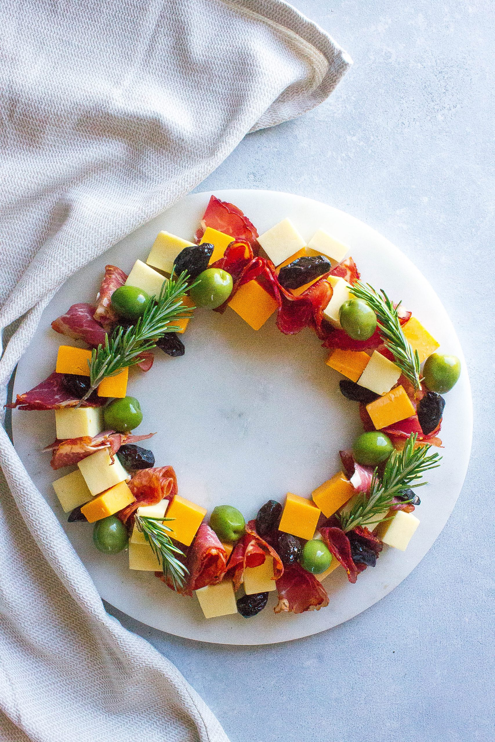 Antipasto Christmas Wreath