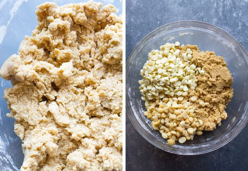 Ingredients to make White Chocolate Macadamia Nut Cookies