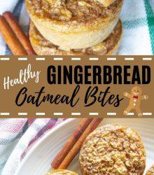 Baked Gingerbread Oatmeal Bites