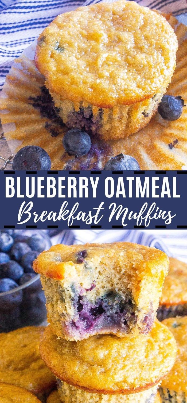 Blueberry Oatmeal Breakfast Muffins