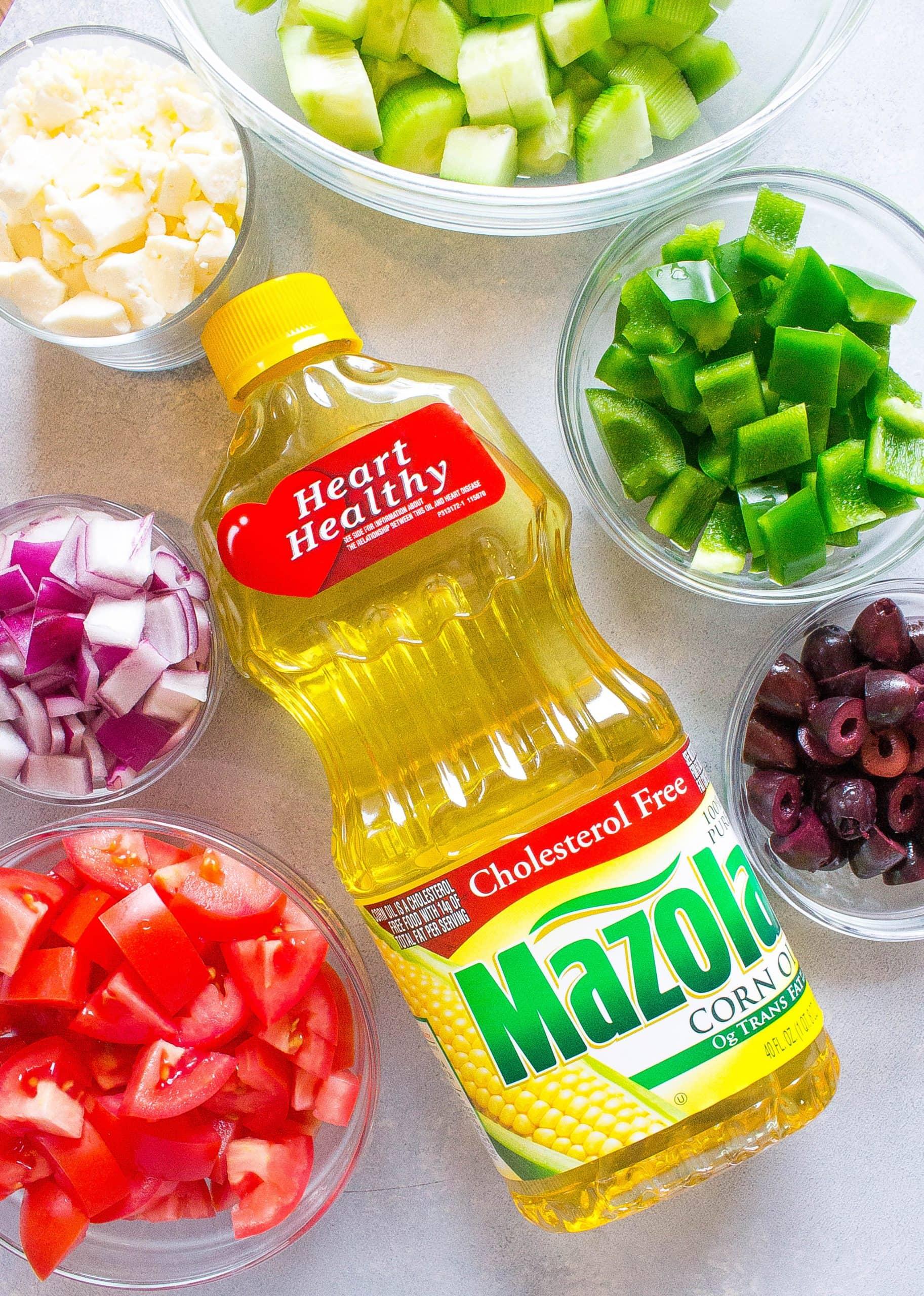 Avocado Greek Salad ingredients