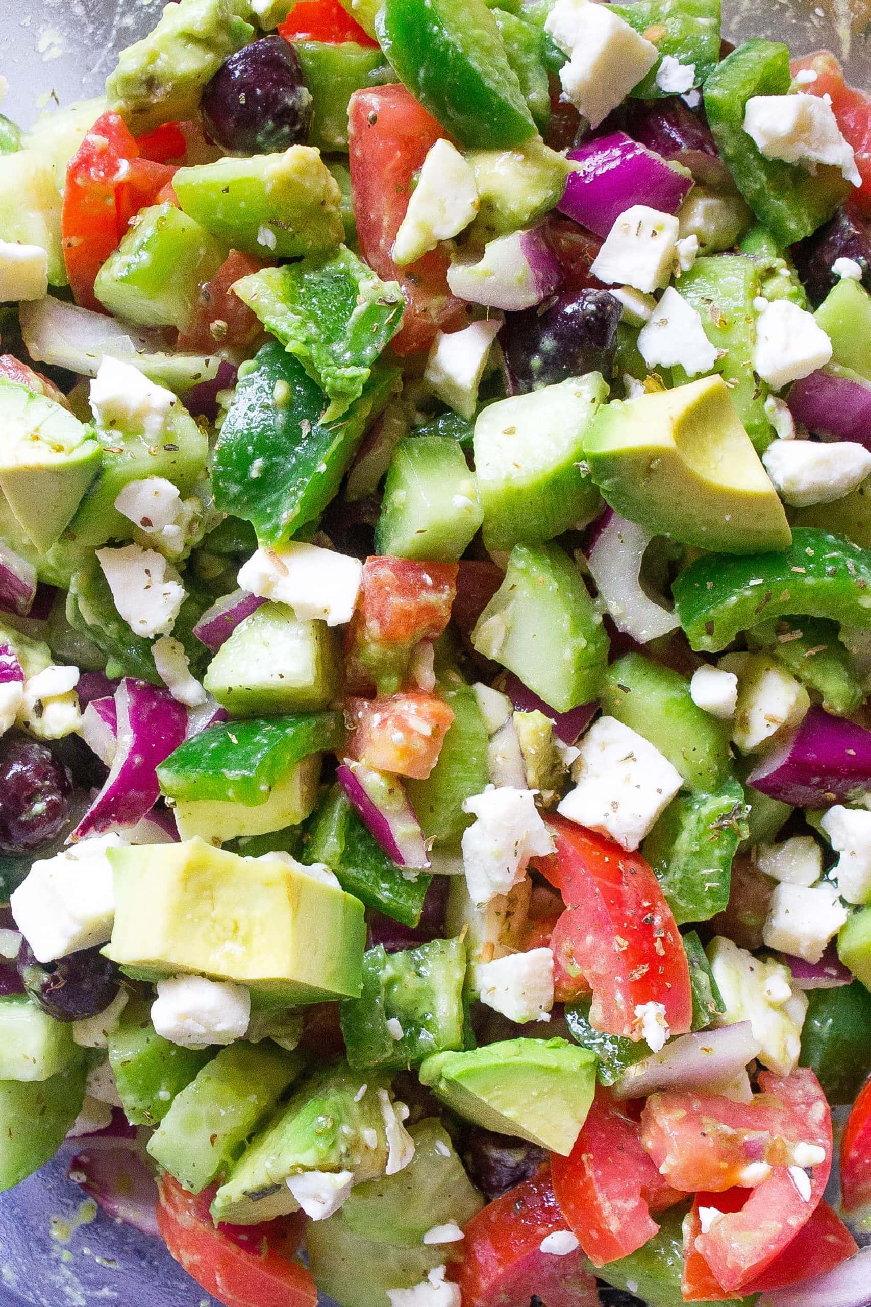 Avocado Greek Salad