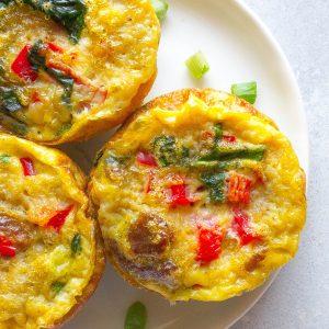 Meatless Veggie Omelette Bites