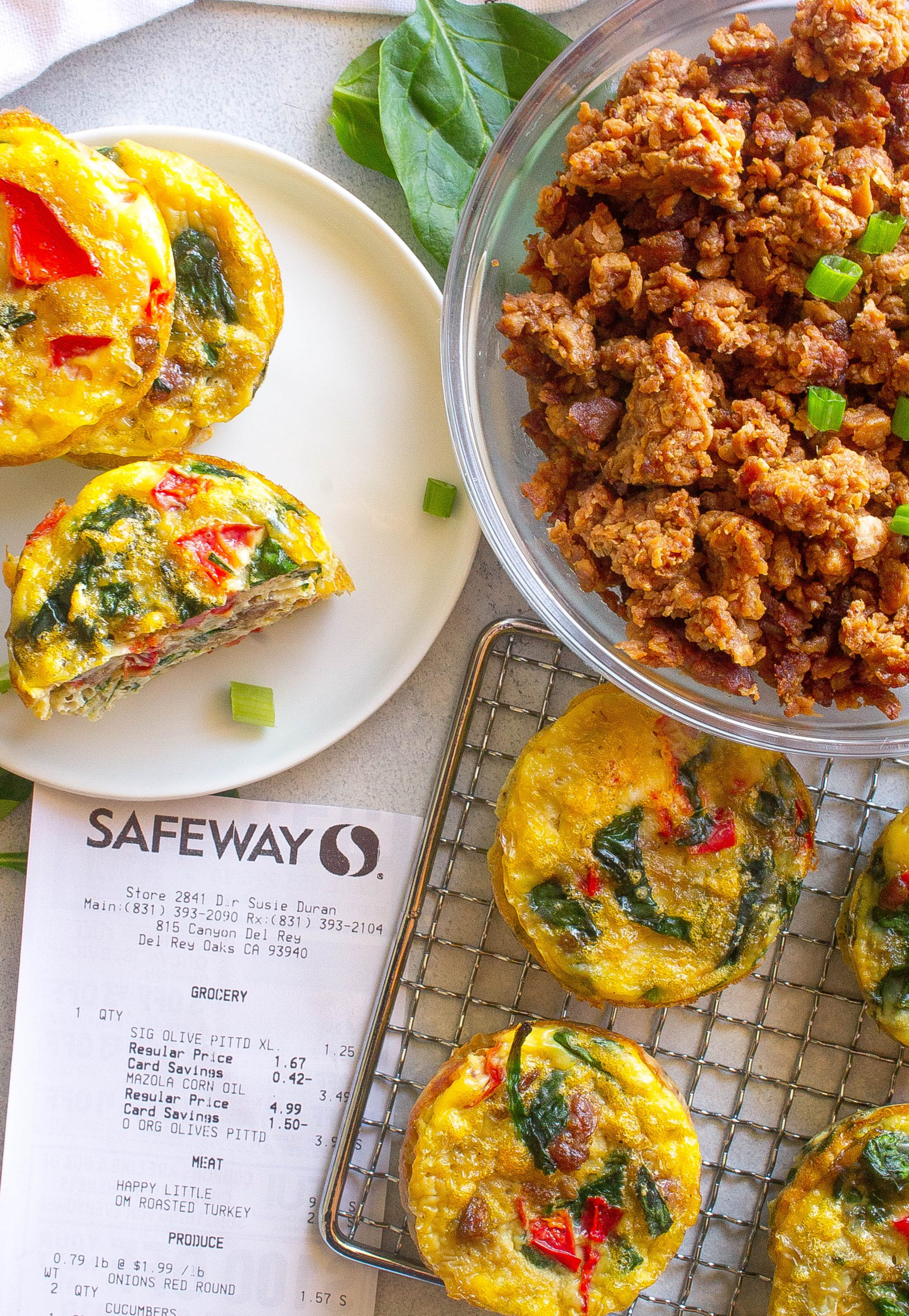 Meatless Veggie Omelette Bites featuring Safeway