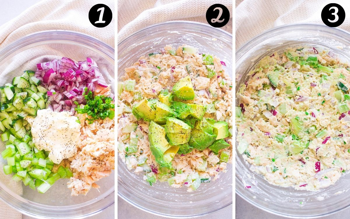 Healthy Avocado Tuna Salad steps