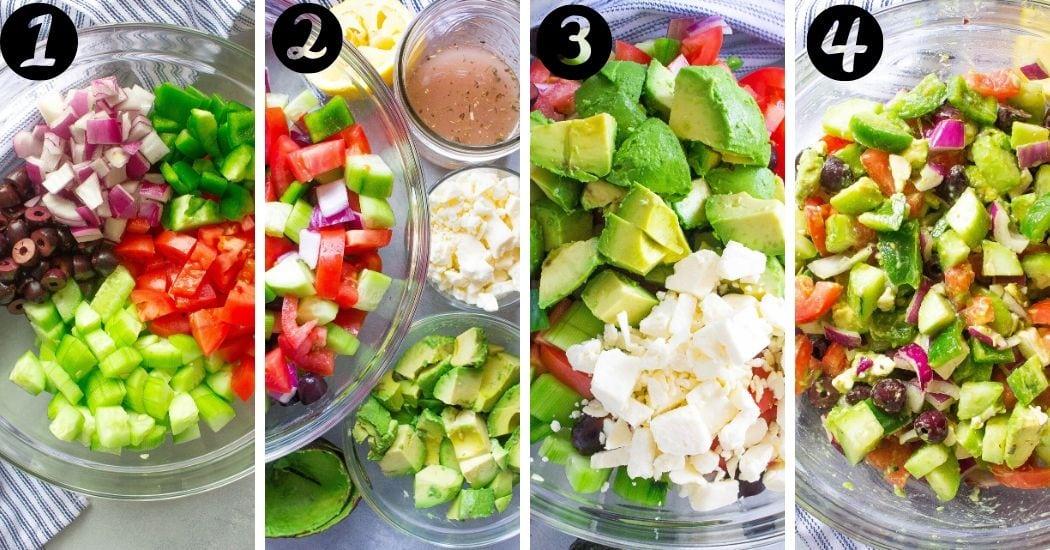 Avocado Greek Salad steps