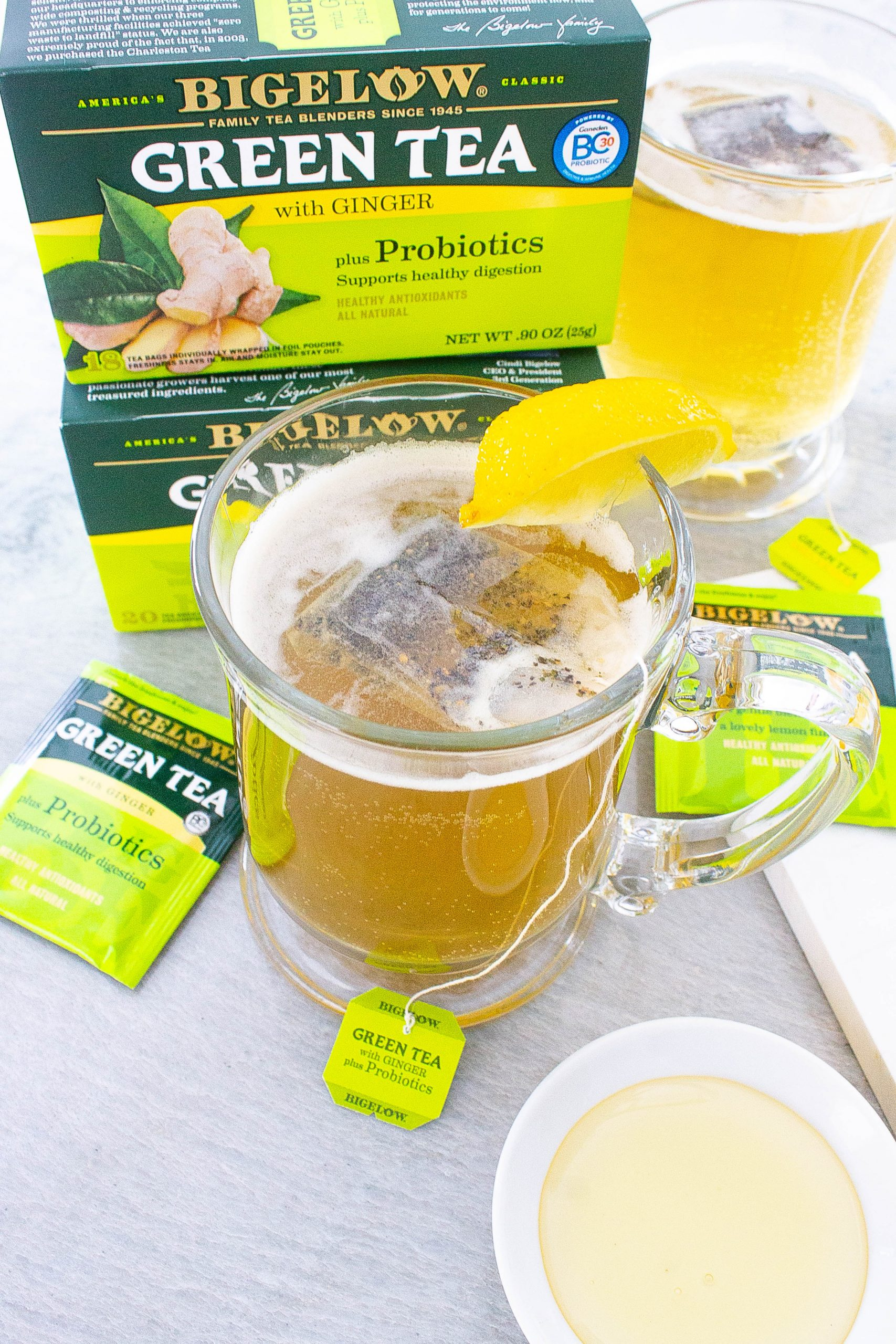 Bigelow tea and lemon