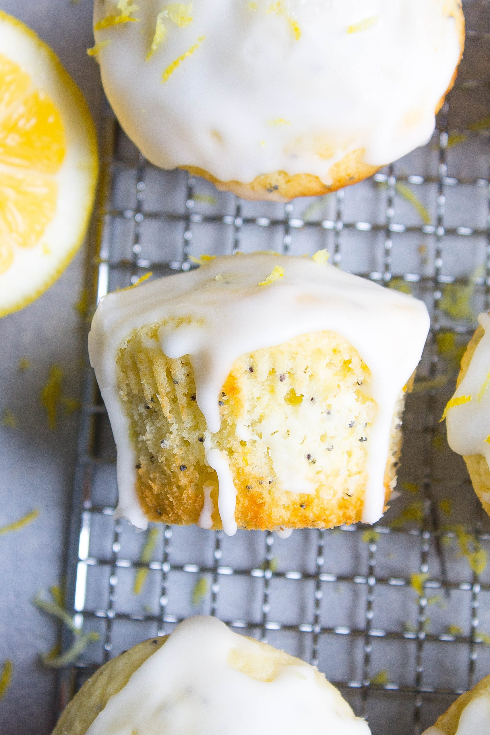 Glazed Lemon Poppy Seed Muffins