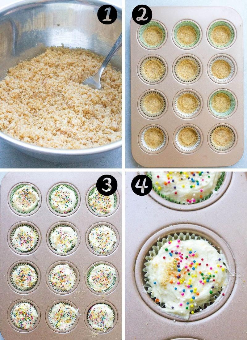 funfetti cupcake steps
