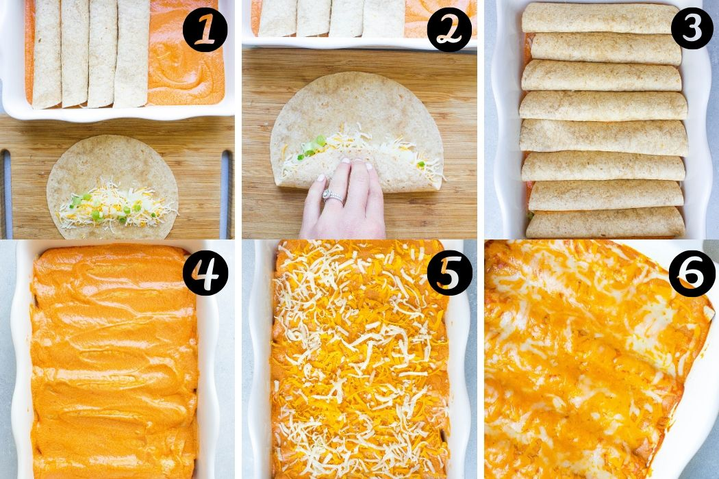 Cheese Enchiladas with Sour Cream Sauce steps